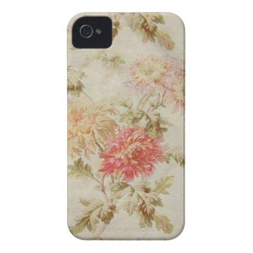 Toile floral francés antiguo iPhone 4 Case-Mate cárcasa