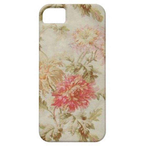 Toile floral francés antiguo iPhone 5 funda