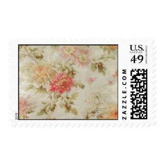 Toile floral francés antiguo sellos