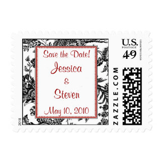 Toile Framed Save the Date Stamp
