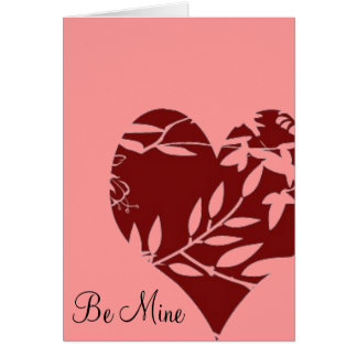 Toile Heart Valentine Card