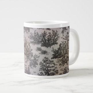 Toile in Black & White Large Coffee Mug