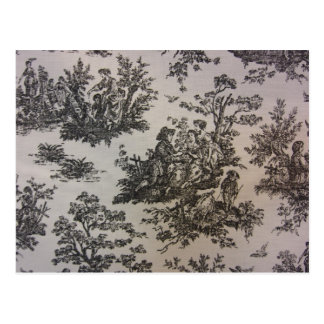 Toile in Black & White Postcard
