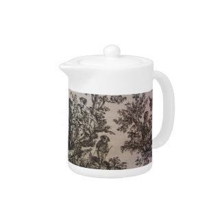 Toile in Black & White Teapot