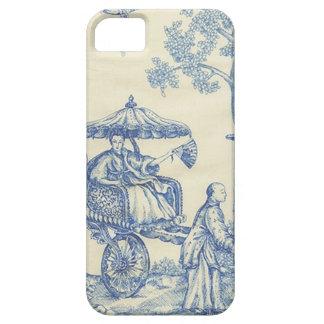 Toile in Blue & White iPhone SE/5/5s Case