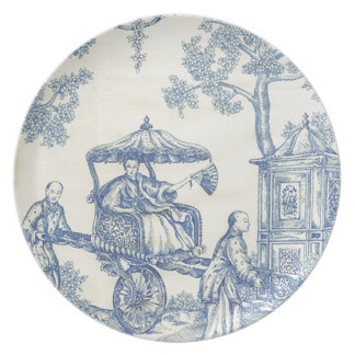Toile in Blue & White Plate