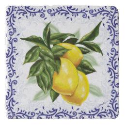 Toile Lemons Trivet