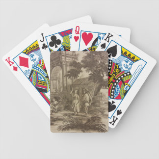 Toile Peasant Scene Bicycle Playing Cards