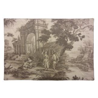 Toile -- Peasant Scene Cloth Placemat