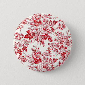 Toile Roses Button