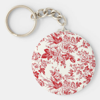 Toile Roses Keychain