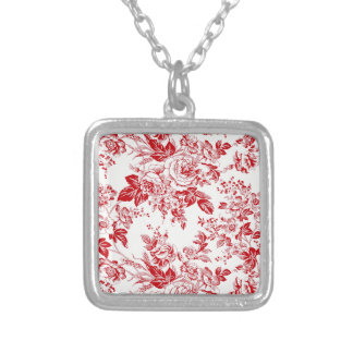 Toile Roses Silver Plated Necklace