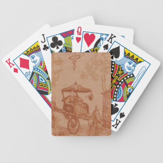 Toile - Sepia Bicycle Playing Cards