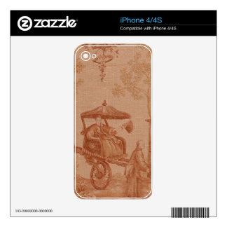 Toile - Sepia iPhone 4S Decals