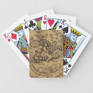 Toile - Taupe Bicycle Playing Cards