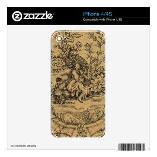 Toile - Taupe iPhone 4 Skin