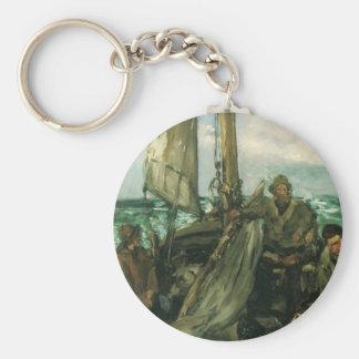 Toilers del mar por Manet, impresionismo del Llavero Redondo Tipo Chapa