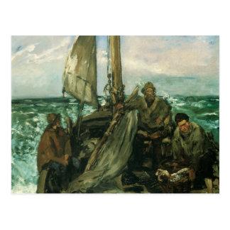 Toilers del mar por Manet, impresionismo del Postal
