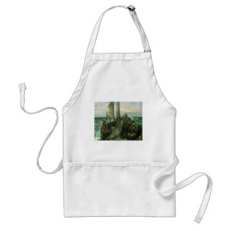 Toilers of the Sea by Manet, Vintage Impressionism Adult Apron