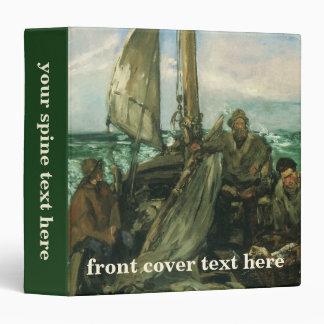 Toilers of the Sea by Manet, Vintage Impressionism Binder