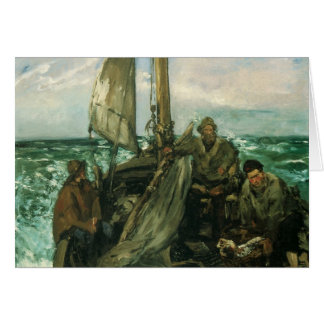 Toilers of the Sea by Manet, Vintage Impressionism Greeting Card