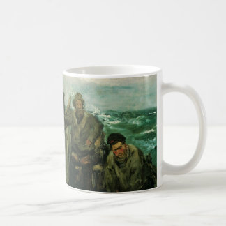 Toilers of the Sea by Manet, Vintage Impressionism Coffee Mug