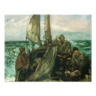 Toilers of the Sea by Manet, Vintage Impressionism Announcements