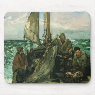 Toilers of the Sea by Manet, Vintage Impressionism Mouse Pad