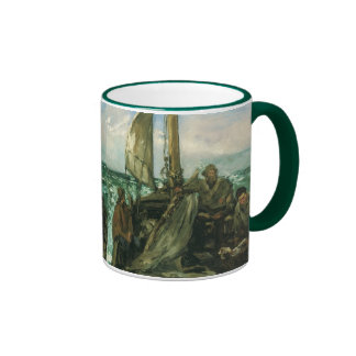 Toilers of the Sea by Manet, Vintage Impressionism Ringer Coffee Mug