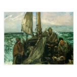 Toilers of the Sea by Manet, Vintage Impressionism Post Card