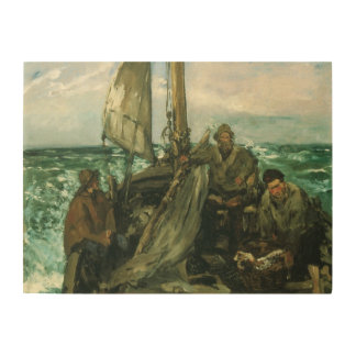 Toilers of the Sea by Manet, Vintage Impressionism Wood Canvases