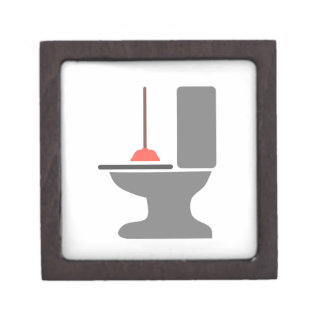 Toilet and Plunger Premium Jewelry Box