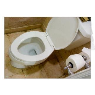 Toilet bowl greeting cards