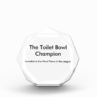 Toilet Bowl Champion Acrylic Award