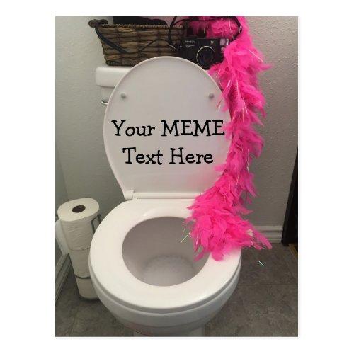 Toilet Bowl Funny Creat a MEME Postcard