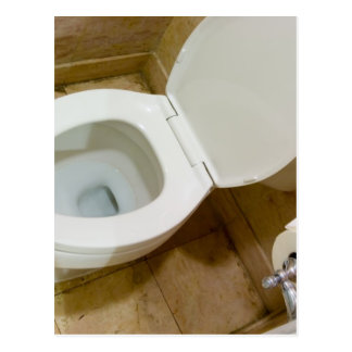 Toilet bowl post card
