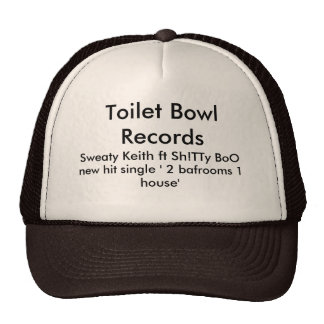 toilet bowl records trucker hat