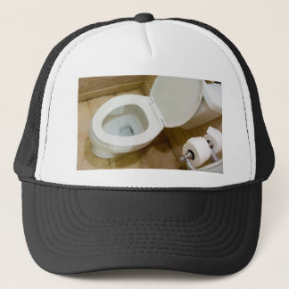 Toilet bowl trucker hat