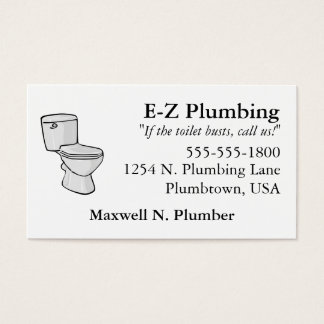Toilet Business Card