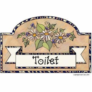 """Toilet"" - Decorative Sign Statuette"