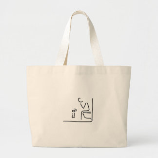 toilet digesting attraction intestine large tote bag