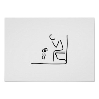 toilet digesting attraction intestine poster