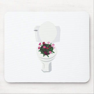 Toilet Flowers Mouse Pad