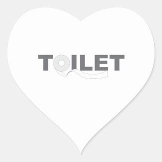 Toilet Heart Sticker