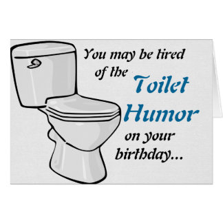 Bathroom Humor bathroom humor cards | zazzle