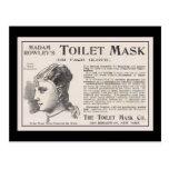 Toilet Mask Advertisement de señora Rowley Postales