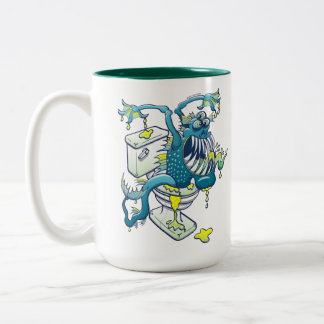 Toilet Monster Two-Tone Coffee Mug