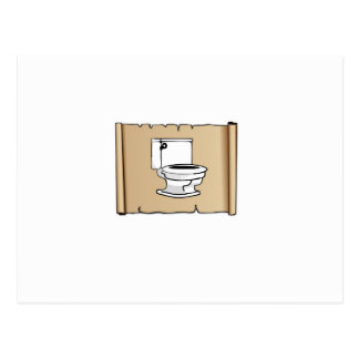 toilet on the scroll postcard
