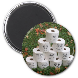 Toilet Paper Bowling 2 Inch Round Magnet