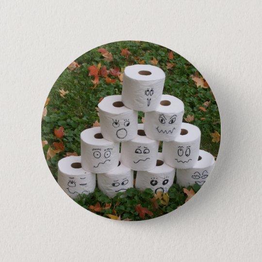 Toilet Paper Bowling Button